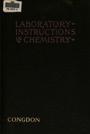 Cover of: Laboratory instructions in general chemistry | Ernest Arnold Congdon