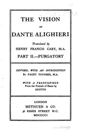 Cover of: The vision of Dante ALighieri by Dante Alighieri