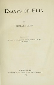 Cover of: Essays of Elia | Charles Lamb