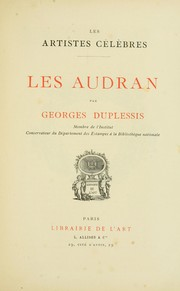 Cover of: Les Audran | Georges Duplessis