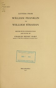 Letters from William Franklin to William Strahan by William Franklin