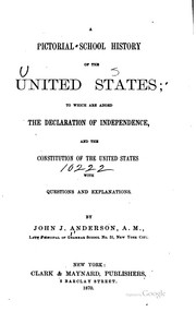 Cover of: A pictorial school history of the United States | Anderson, John J.