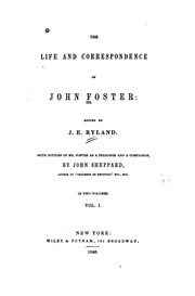Cover of: The life and correspondence of John Foster
