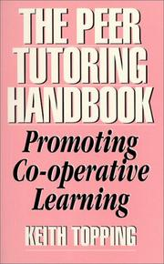 Cover of: The Peer Tutoring Handbook | Keith Topping