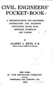 Cover of: Civil engineers' pocket book | Albert Irvin Frye