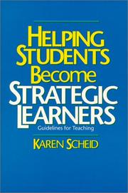 Cover of: Helping students become strategic learners | Karen Scheid