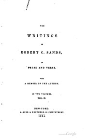 Cover of: The writings of Robert C. Sands