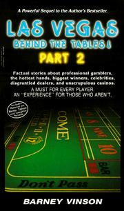 Cover of: Las Vegas Behind the Tables (Las Vegas Behind the Tables!)