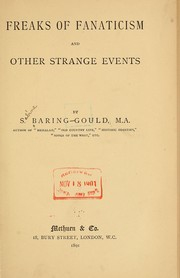 Cover of: Freaks of fanaticism and other strange events | Sabine Baring-Gould