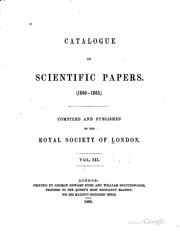 Catalogue of scientific papers by Royal Society (Great Britain)