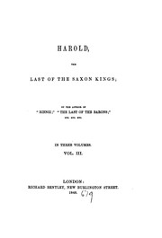 Cover of: Harold, the last of the Saxon kings, by the author of