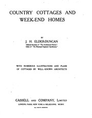 Cover of: Country-cottages and week-end homes | J. H. Elder-Duncan