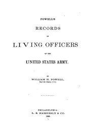 Cover of: Powell's records of living officers of the United States Army | William Henry Powell