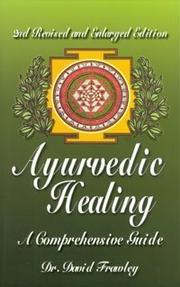Cover of: Ayurvedic healing