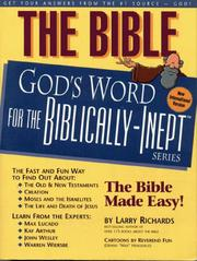 Cover of: The Bible--God's Word for the Biblically-Inept