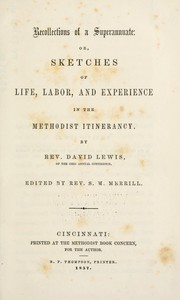 Cover of: Recollections of a superannuate | Lewis, David