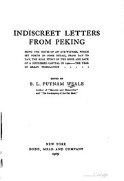 Indiscreet letters from Peking by Bertram Lenox Simpson