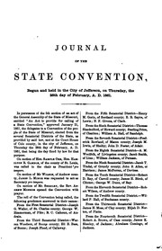 Cover of: Journal and Proceedings of the Missouri State Convention by Missouri Convention