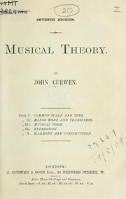 Cover of: Musical theory | Curwen, John