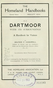 Cover of: Dartmoor with its surroundings | Beatrix F. Cresswell