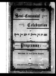 1834, 1884 semi-centennial celebration