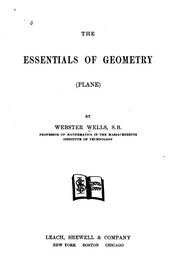 Cover of: Essentials of Geometry (plane). | Webster Wells
