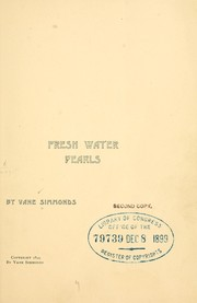 Cover of: Fresh water pearls | Vane Simmonds