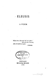 Cover of: Eleusis | William Rufus Perkins