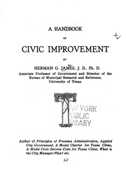 A handbook of civic improvement by Herman Gerlach James