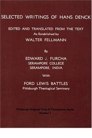 Cover of: Selected writings of Hans Denck