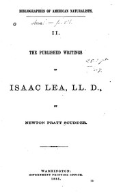 Cover of: The published writings of Isaac Lea, LL. D. | Newton Pratt Scudder
