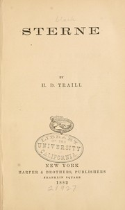 Cover of: Sterne | Traill, H. D.