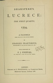 Cover of: The rape of Lucrece | William Shakespeare