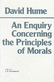Cover of: An enquiry concerning the principles of morals | David Hume
