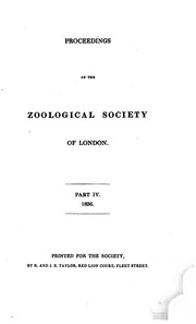 Cover of: Proceedings by Zoological Society of London