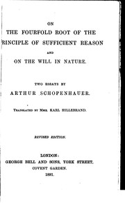 Cover of: On the fourfold root of the principle of sufficient reason | Arthur Schopenhauer