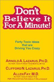 Cover of: Don't believe it for a minute!