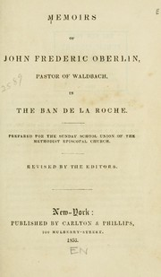 Cover of: Memoirs of John Frederic Oberlin | Johann Friedrich Oberlin
