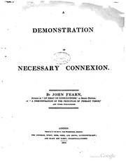 Cover of: A demonstration of necessary connexion | John Fearn