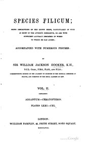 Cover of: Species filicum; being descriptions of the known ferns, particulary of such as exist in the author