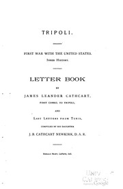 Cover of: Tripoli. | James L. Cathcart