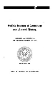 Cover of: Proceedings of the Suffolk Institute of Archaeology by Suffolk Institute of Archaeology