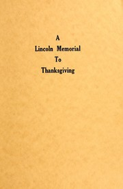 A Lincoln memorial to Thanksgiving