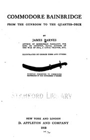 Cover of: Commodore Bainbridge: From the Gunroom to the Quarter-deck by James Barnes