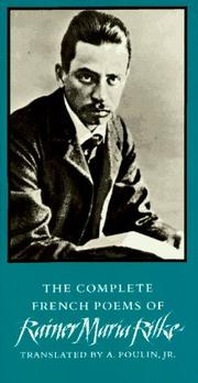 Cover of: The complete French poems of Rainer Maria Rilke | Rainer Maria Rilke