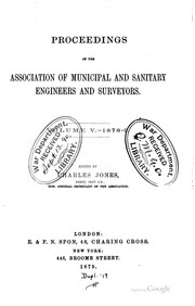 Cover of: Proceedings | Institution of Municipal Engineers