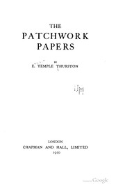 Cover of: The patchwork papers by Ernest Temple Thurston
