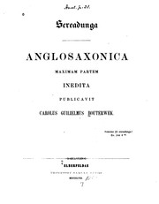 Cover of: Screadunga: Anglosaxonica maximam partem inedita by Karl Wilhelm Bouterwek