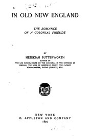 Cover of: In old New England | Hezekiah Butterworth