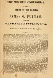 Cover of: The Missouri compromise | Putnam, James Osborne